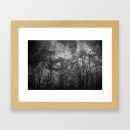 Flight Scratched Framed Art Print