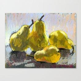 Pears on a table #1 Canvas Print