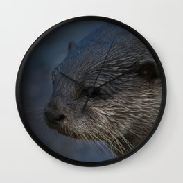 Small Clawed Otter Wall Clock