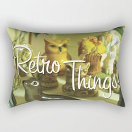 Retro things. By Angelica Ramos Rectangular Pillow