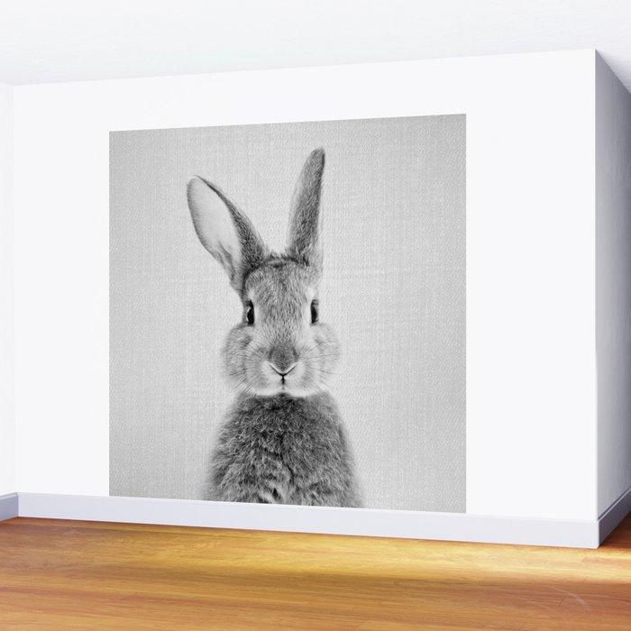 Rabbit - Black & White Wall Mural