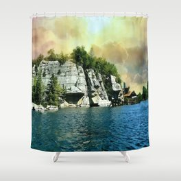 Golden Sky Over the Mountain - Mohonk Shower Curtain
