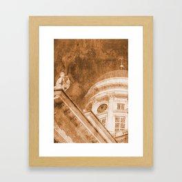 Vintage Helsinki Cathedral Framed Art Print