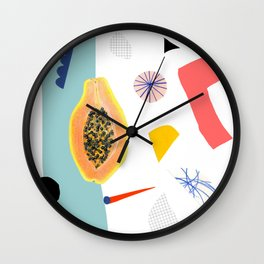 Shapes and Fruits 2 Wall Clock
