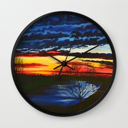 Looking out my back fdoor Wall Clock