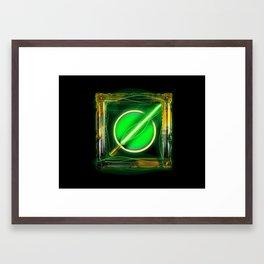 Green Lightsaber Special - Golden Jedi Series Framed Art Print