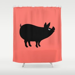 Angry Animals: Piggy Shower Curtain