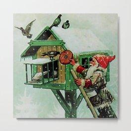 """Feeding Winter Birds"" Elves by Jenny Nystrom Metal Print"