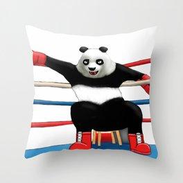 Boxing Panda Throw Pillow