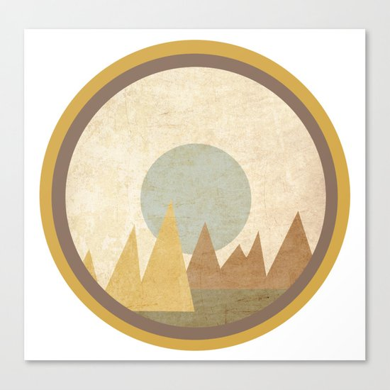 Moon & Mountains Canvas Print
