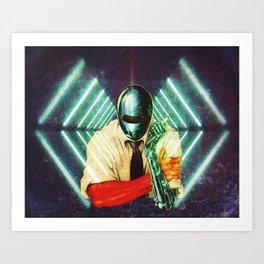 Robot Cig Art Print