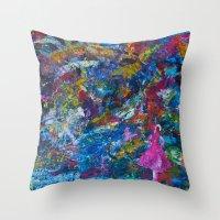 rocket Throw Pillows featuring Rocket by kaybattle