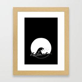 Black Wave Framed Art Print