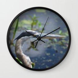 The Pensive Heron Wall Clock