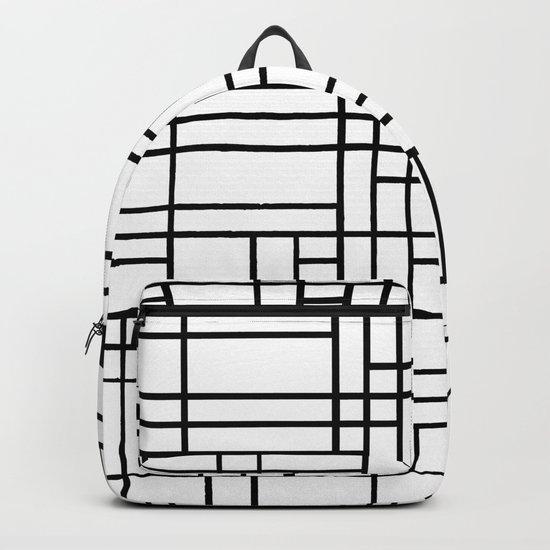Map Black Boarder Backpack