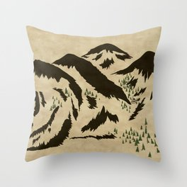 Sleepy Bear Mountain Throw Pillow
