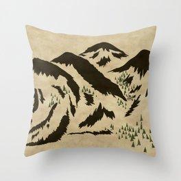 Sleepy Bear Mountain Throw Pillow