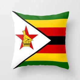 Flag of Zimbabwe Throw Pillow