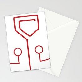 Juggernaut mask markings Stationery Cards
