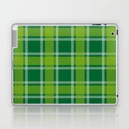 Green tones plaid pattern St Patrick addition Laptop & iPad Skin