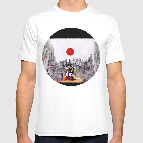 Japanese man in A Japanese landscape T-shirt