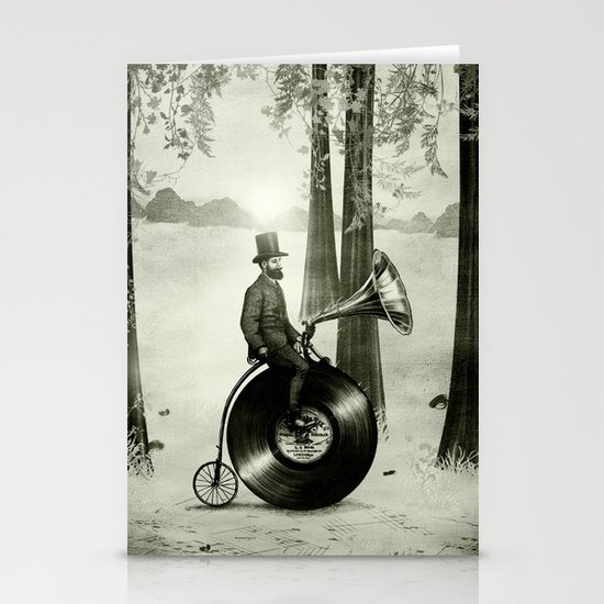 Music Man in the Forest, by Eric Fan and Viviana González Stationery Cards