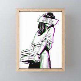 STUDY - SAD JAPANESE ANIME AESTHETIC Framed Mini Art Print