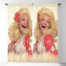 Dolly Parton - Watercolor Blackout Curtain