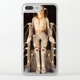 Metropolis Robot Woman Clear iPhone Case