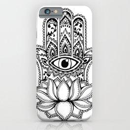 Hamsa Lotus iPhone Case