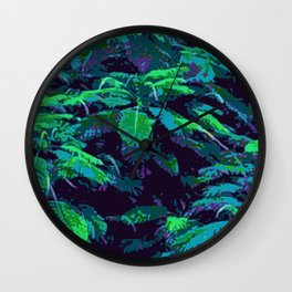 Tropical Fabric Wall Clock