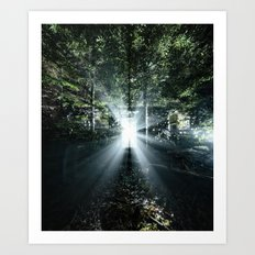 Radiating Light Art Print