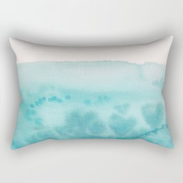 Waves of Love Aqua Rectangular Pillow