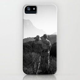 """Love on the Horizon"" Holga black and white double exposure iPhone Case"