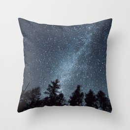 Milky Way in the Woods | Nature and Landscape Photography Throw Pillow