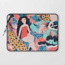 Cheetah & Tropical Girl Laptop Sleeve