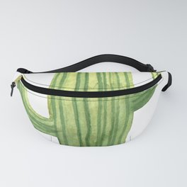 Simple Green Cactus on White Fanny Pack