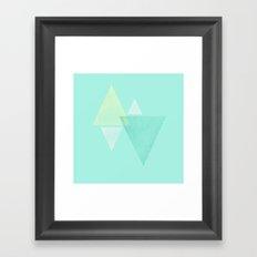 simplistic triangle.  Framed Art Print