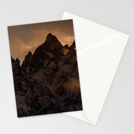 Tetons At Sunset Stationery Cards