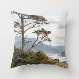 Clifftop Grazing Throw Pillow