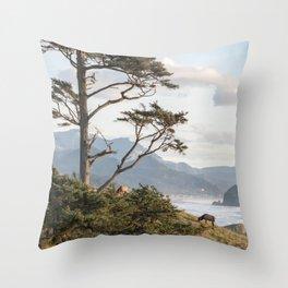 Clifftop Grazing Throw Pillow