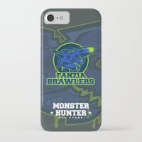 monster hunter iPhone & iPod Cases featuring Monster Hunter All Stars - The Tanzia Brawlers by Bleached ink