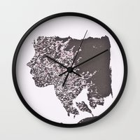 blush Wall Clocks featuring Blush by Jane Lacey Smith