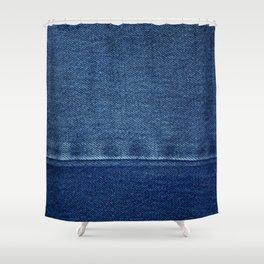 Blue Jean Texture V4 Shower Curtain