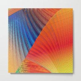 Hexa Twirl Metal Print