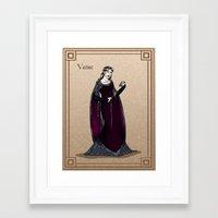 valar morghulis Framed Art Prints featuring Vaire by wolfanita