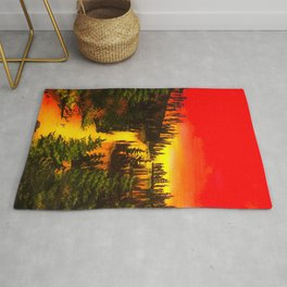 Clear water sunset  Rug