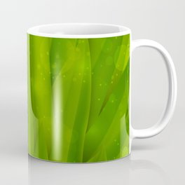 background in pastel colors with green grass and dew Coffee Mug