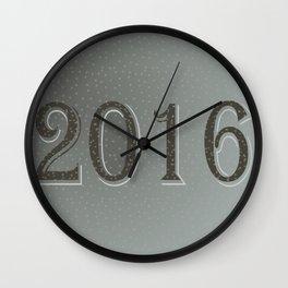 New year 2016 in grey  Wall Clock