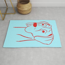 Great Dane (Cyan and Red) Rug